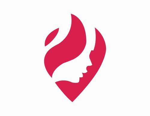 黄红绿彩妆养生馆logo商标设计-温州柏宏品牌形象vi图片